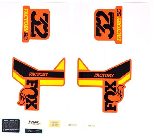 Fox Racing Shox Decal Kit 2018 32 SC F-S , keltainen/musta