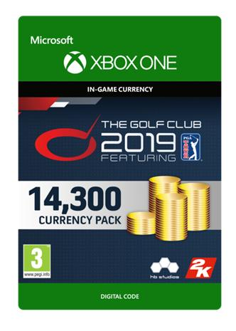 The Golf Club 2019 Featuring PGA Tour - 14300 Currency, Xbox One -peli