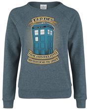 Doctor Who Time And Relative Naisten svetari sävytetty sininen