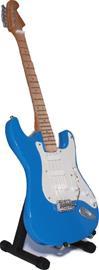 Mini guitar: Dire Straits - Mark Knopfler - Fender Stratocaster Blue