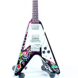 Mini guitar: Jimi Hendrix -Gibson Flying V - Psychedelic Flower
