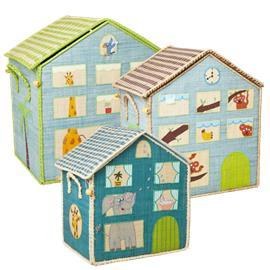 Rice - Large Set of 3 Toy Baskets - Jungle House Theme
