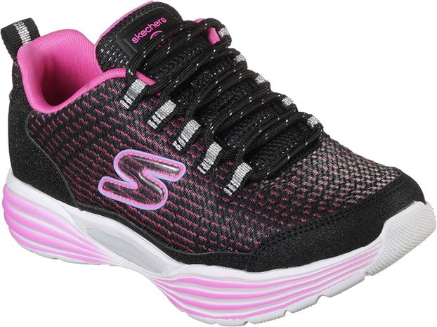 Skechers Hidden Lights Lenkkarit, Black/Pink 37
