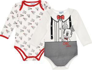 Disney Mikki Hiiri Bodyt 2-Pack, Offwhite/Red 24 kk