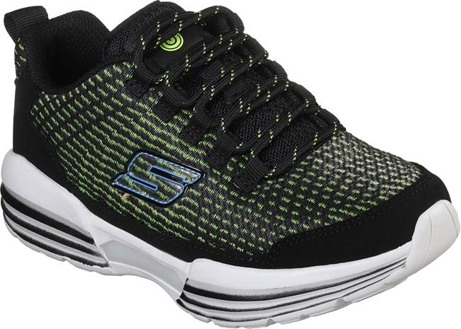 Skechers Hidden Lights Lenkkarit, Black/Lime 37