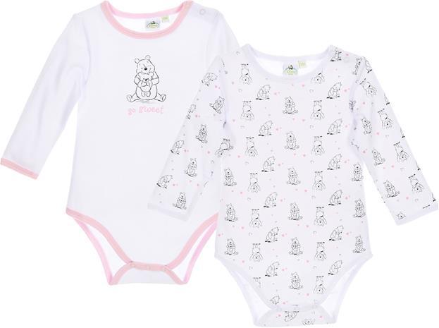 Disney Nalle Puh Bodyt, White/Pink 24 kk