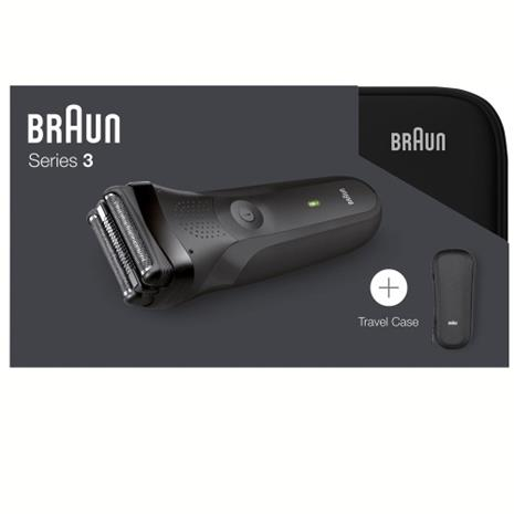 Braun 300Ts Travel Case, partakone + matkakotelo