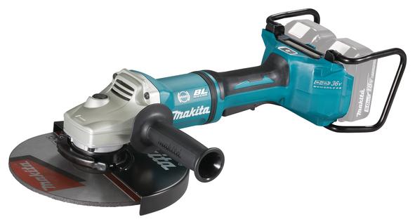Makita DGA901ZUX1 LXT 2x18 V 230mm, kulmahiomakone (ilman akkua ja laturia)