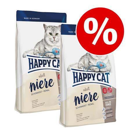 Happy Cat -säästöpakkaus 2 x 1,4 kg - Indoor Adult Salmon