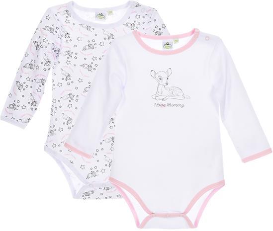 Disney Bambi Bodyt, Valkoinen/Vaaleanpunainen 12 kk
