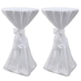 vidaXL Pöydän Päällyste Valkoinen 70 cm Nauhalla 2 kpl