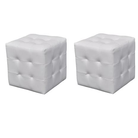vidaXL 2 x Kuutiotuoli Valkoinen
