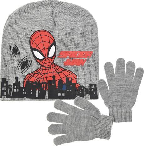 Marvel Spider-Man Pipo & Käsineet, Vaaleanharmaa 52