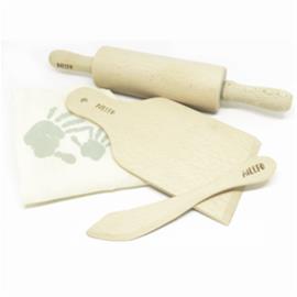 Muovailuvälineet Ailefo kaulin, veitsi ja leikkuualusta