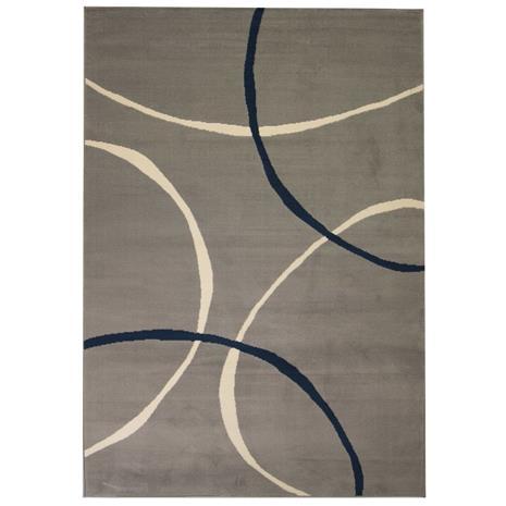 vidaXL Moderni matto ympyräkuvio 80x150 cm harmaa