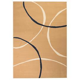 vidaXL Moderni matto ympyräkuvio 140x200 cm ruskea