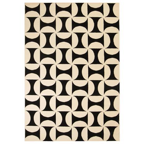 vidaXL Moderni matto geometrinen kuvio 80x150 cm beige/musta