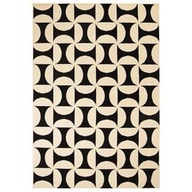 vidaXL Moderni matto geometrinen kuvio 140x200 cm beige/musta