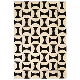 vidaXL Moderni matto geometrinen kuvio 160x230 cm beige/musta