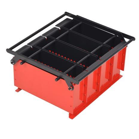 vidaXL Brikettipuristin teräs 38x31x18 cm musta ja punainen