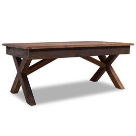 vidaXL Sohvapöytä kiinteä kierrätetty puu 110x60x45 cm