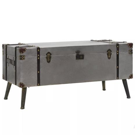 vidaXL Sohvapöytä MDF ja alumiini 102x51x47,5 cm