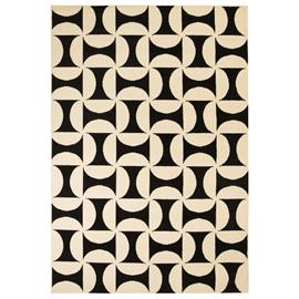 vidaXL Moderni matto geometrinen kuvio 180x280 cm beige/musta