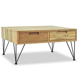 vidaXL Sohvapöytä 80x80x40 cm kiinteä tiikki