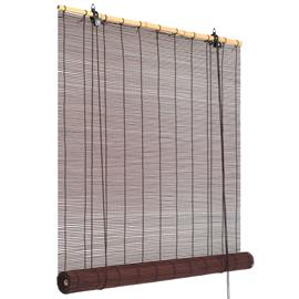 vidaXL Rullaverho bambu 150x220 cm tummanruskea
