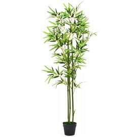 vidaXL Tekokasvi ruukulla bambu 150 cm vihreä