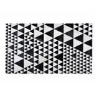 Beliani Mustavalkoinen nahkamatto 160x230 cm ODEMIS