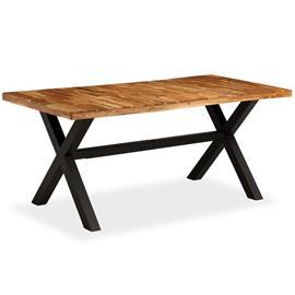 vidaXL Ruokapöytä kiinteä akaasia- ja mangopuu 180x90x76 cm