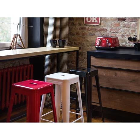 Beliani Punainen baarijakkara 76 cm (2 kpl) CABRILLO
