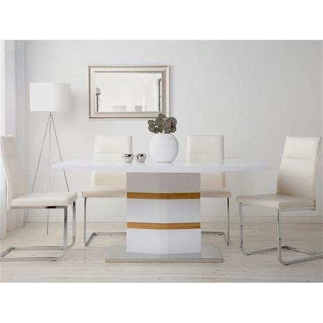 Beliani Ruokapöytä 160x90 cm valkoinen FREMONT