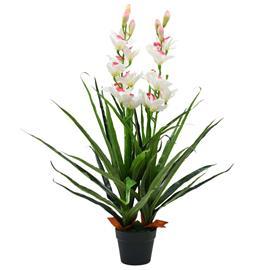 vidaXL Tekokasvi ruukulla kymbidi (orkidea) 100 cm vihreä