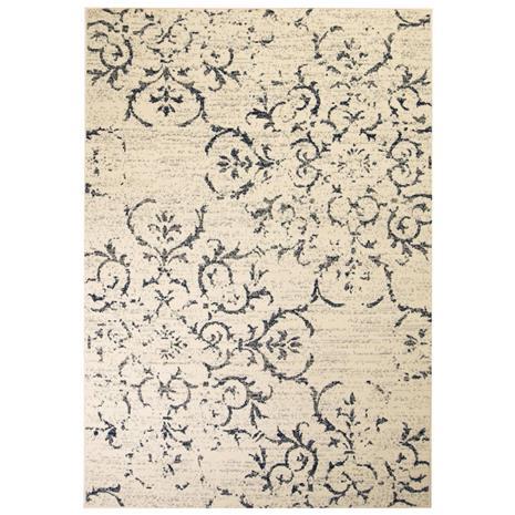vidaXL Moderni matto kukkakuvio 120x170 cm beige/sininen
