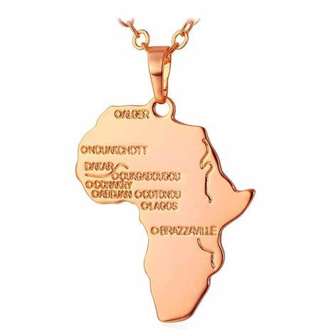 eStore U7 Afrikka-kaulakoru - Ruusukulta