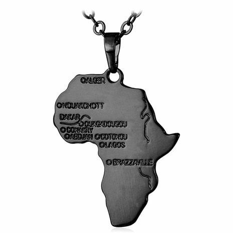 eStore U7 Afrikka-kaulakoru - Musta