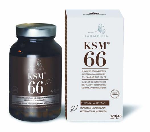 Harmonia KSM66 Ashwagandha 120 kaps, ravintolisä