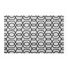 Beliani Luonnonvaalea/musta matto 140x200 cm LAMIA