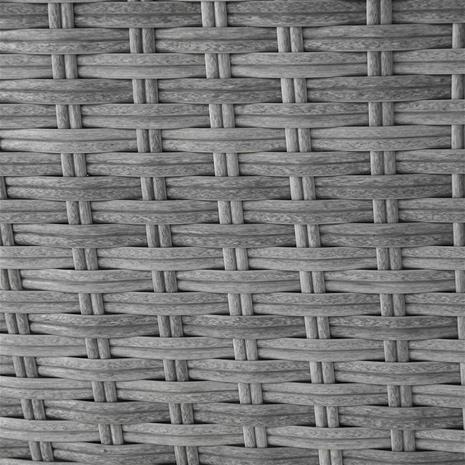 Beliani Aurinkovuode katoksella ja pöydällä – Polyrottinkinen harmaa SYLT LUX