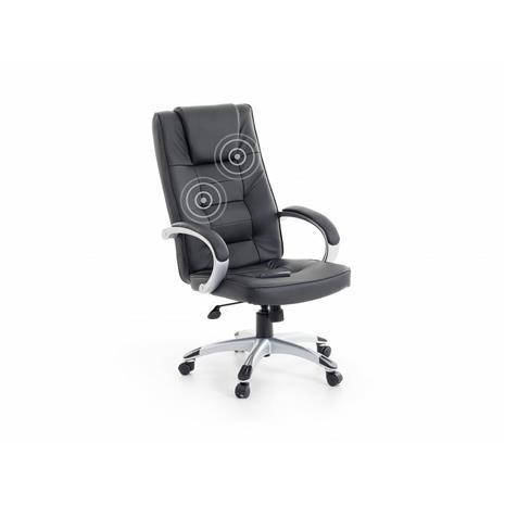 Beliani Musta hierova tuoli hopeanvärisellä jalalla - DIAMOND II