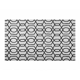 Beliani Luonnonvaalea/musta matto 160x230 cm LAMIA