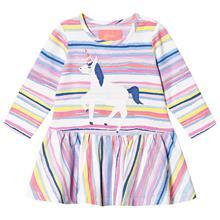 Multi Stripe Unicorn Applique Dress3-6 months
