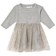 Ranita Ls Tulle Dress Grey Melange50 cm (0-1 kk)