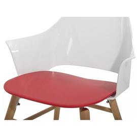 Beliani Moderni ruokapöydän tuoli - punainen/valkoinen BOSTON