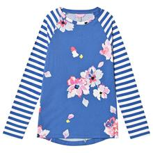 Blue Stripe Floral Jersey Top11-12 years