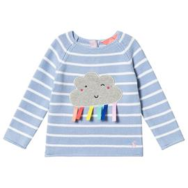 Blue and White Stripe Rainbow Knitted Jumper3-6 months