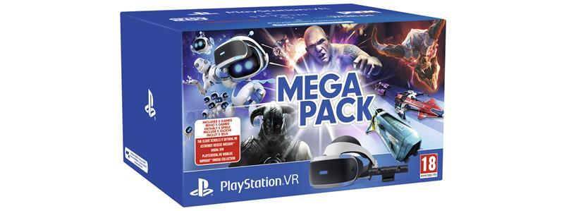 Sony Playstation VR Mega Pack, PS4 -peliohjain + 5 peliä