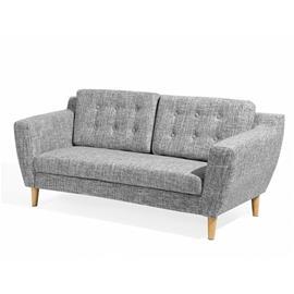 Beliani Kolmenistuttava harmaa sohva KUOPIO